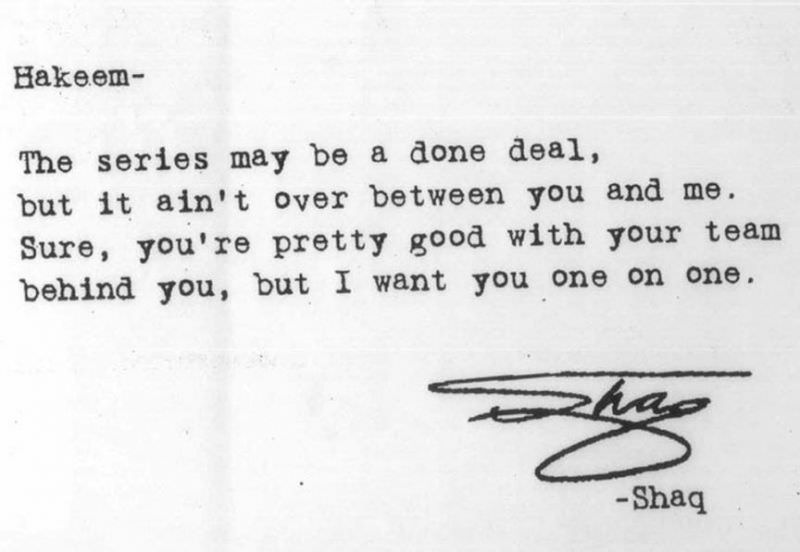 Shaq Letter